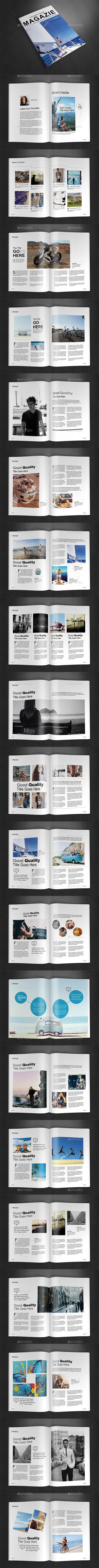 A4 Magazine Template Vol.14 - Magazines Print Templates