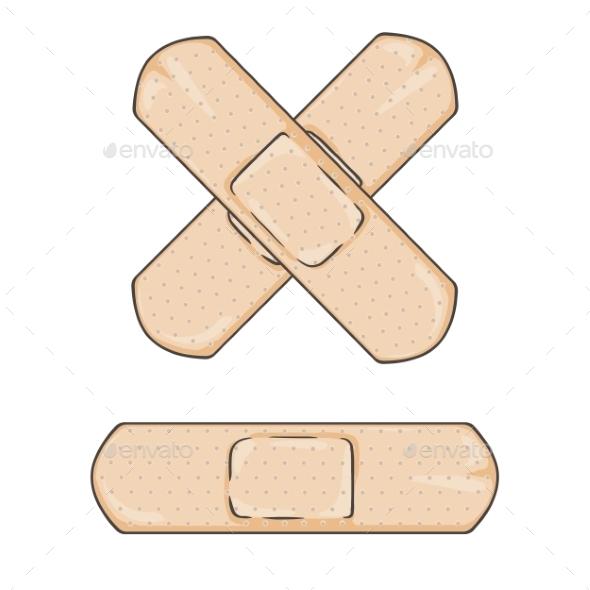 Cartoon Bandage - Health/Medicine Conceptual