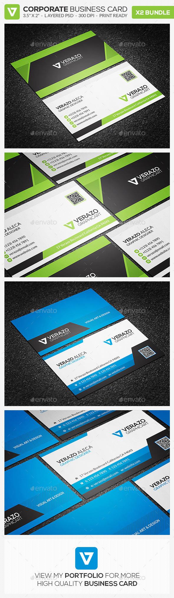 Business Card Bundle 18 - Corporate Business Cards