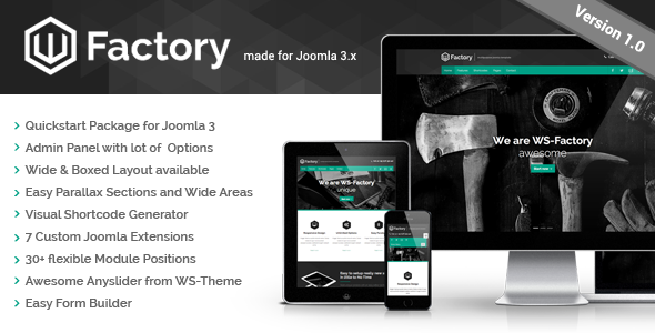 WS-Factory – Multipurpose Joomla Template