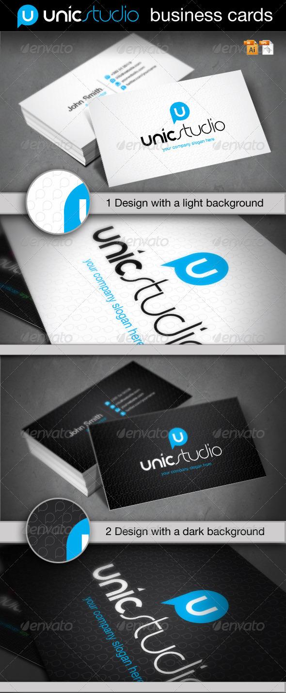 Unic Studio Business Card - Corporate Business Cards