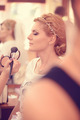 Bride at make up studio