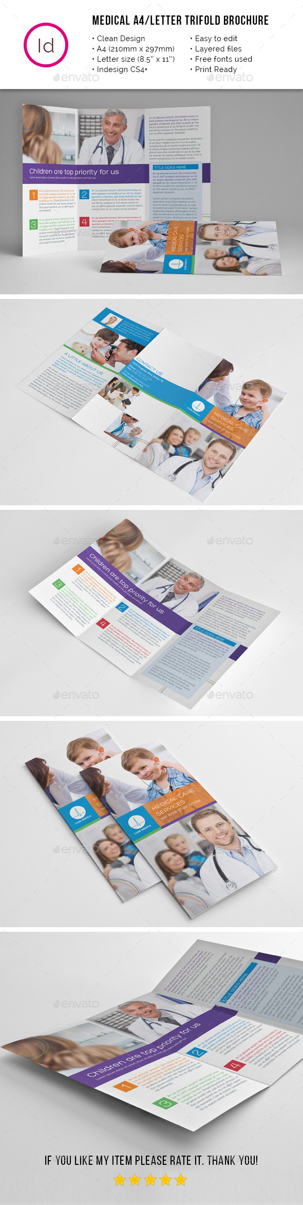 Children Medical A4 / Letter Trifold Brochure - Corporate Brochures