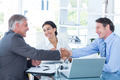 Business people reaching an agreement in an office - PhotoDune Item for Sale