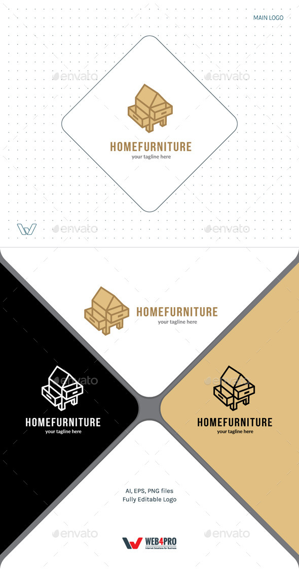 Home Furniture Logo - Objects Logo Templates