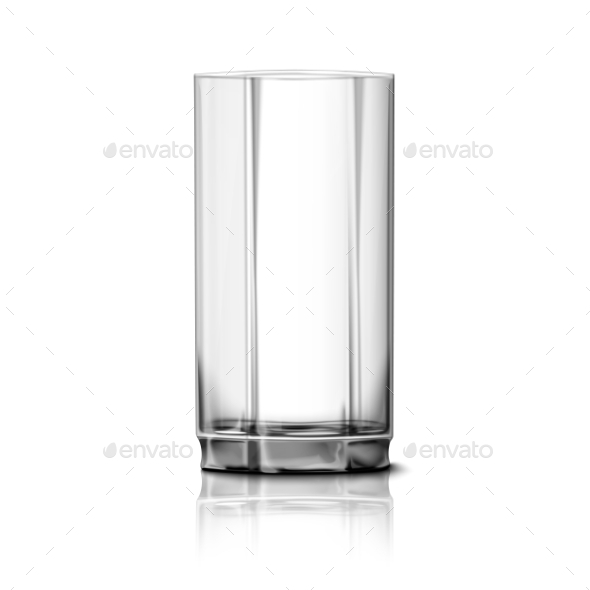 Glass Isolated on White - Man-made Objects Objects