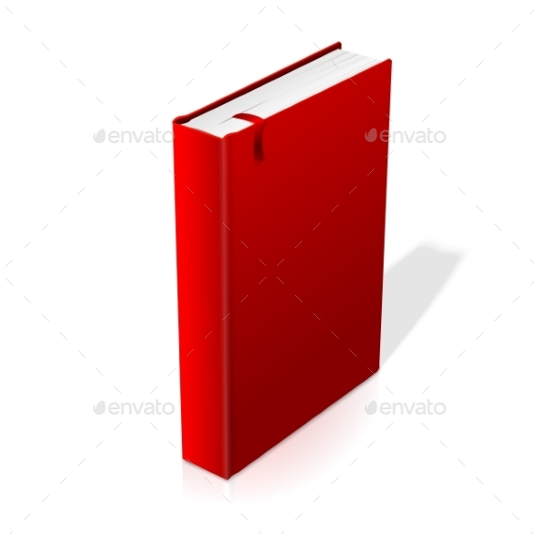 Standing Red Blank Hardcover Book - Man-made Objects Objects