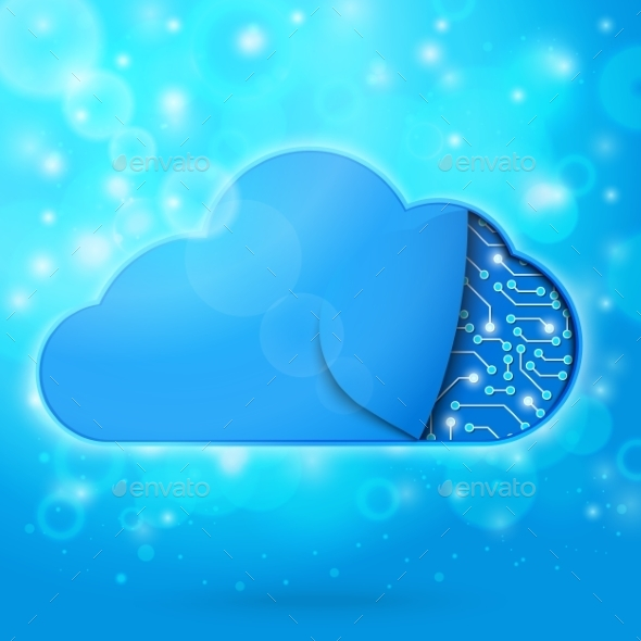 Cloud Computing Technology Concept Illustration - Web Technology