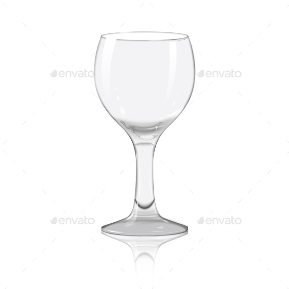 Blank Transparent Wine Glass - Man-made Objects Objects