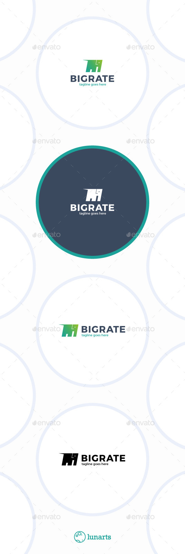 Big Rate Logo - Elephant - Animals Logo Templates