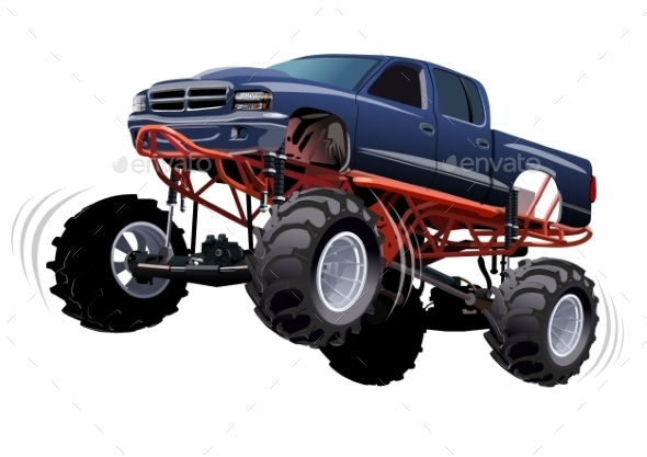 Monster Truck - Man-made Objects Objects