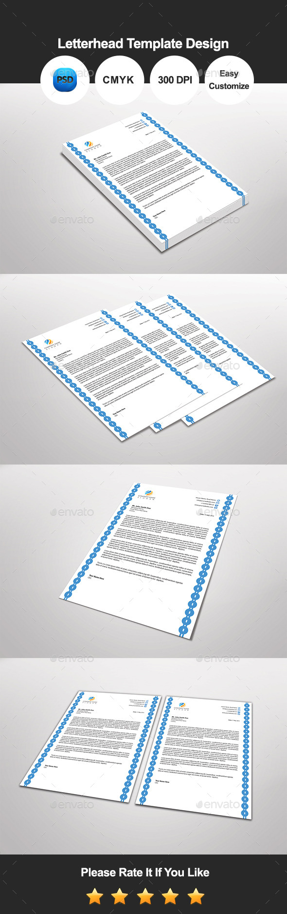 Renflex Letterhead Template Design - Proposals & Invoices Stationery