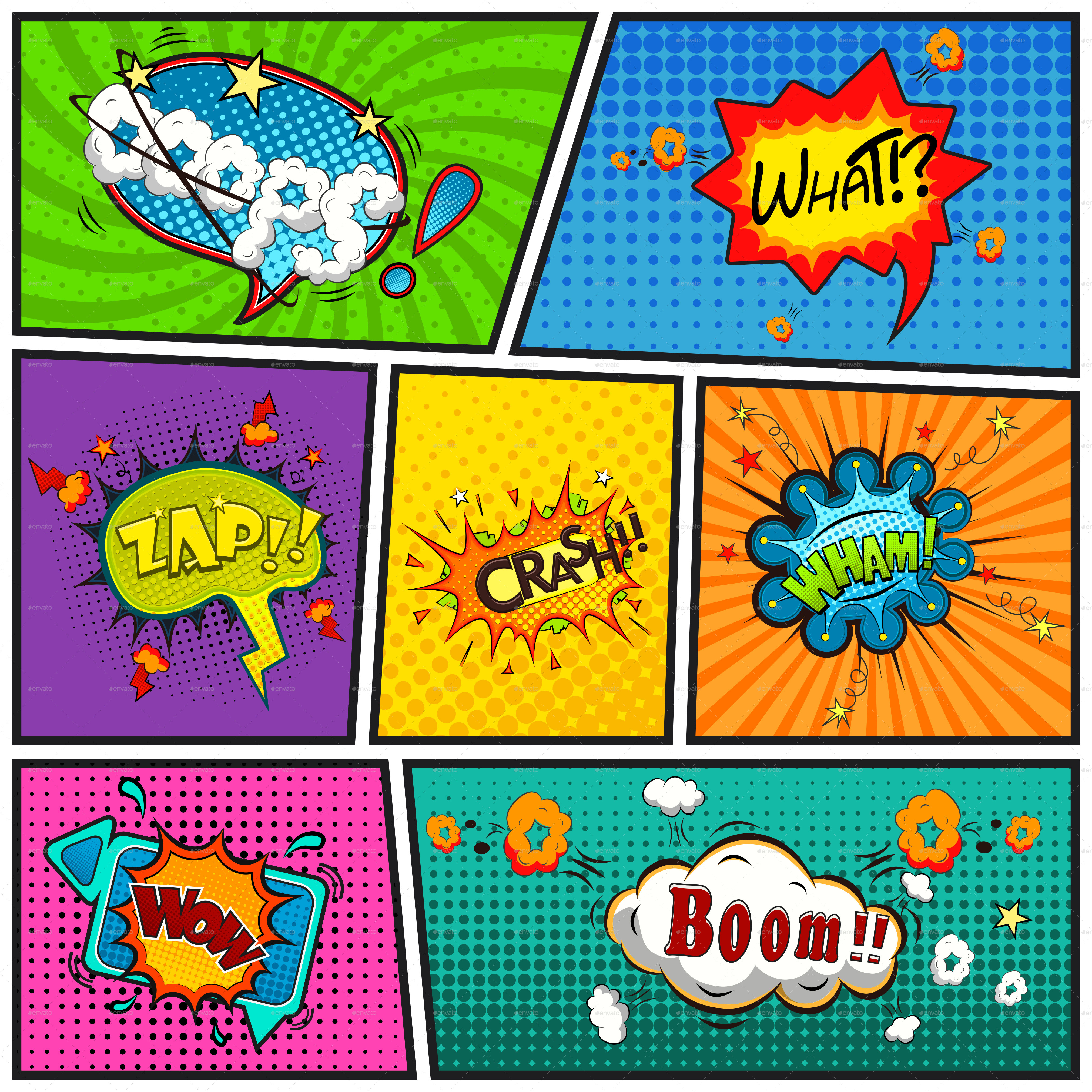 comic speech bubbles backgroundyayasya | graphicriver, Modern powerpoint