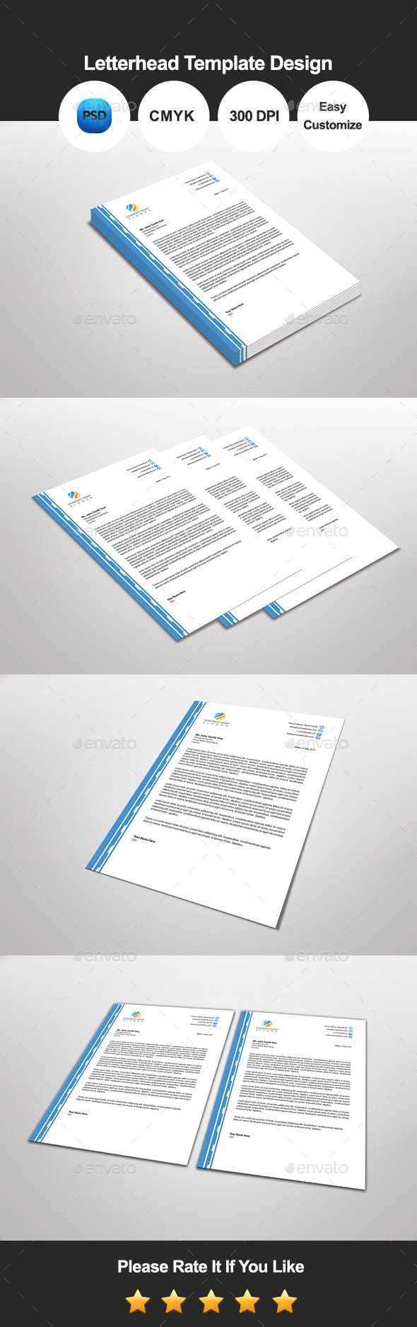 Txian Letterhead Template Design - Proposals & Invoices Stationery