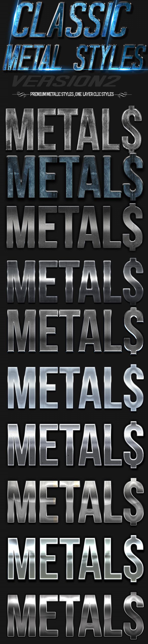 Classic Metal Styles 2 - Text Effects Styles