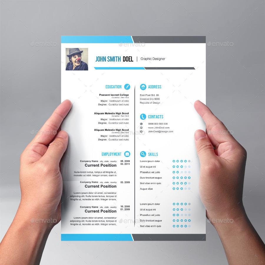 premium cool resume template design by graphicsdesignator graphicriver