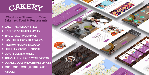 Bakery WordPress Theme - Food Retail