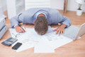 Businessman being depressed by accounting in his office - PhotoDune Item for Sale