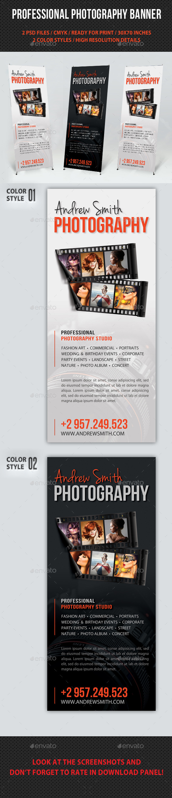 Photograph Product Multipurpose Banner 15 - Signage Print Templates