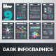 Dark Infographic Brochure Vector Elements Kit 9 - GraphicRiver Item for Sale