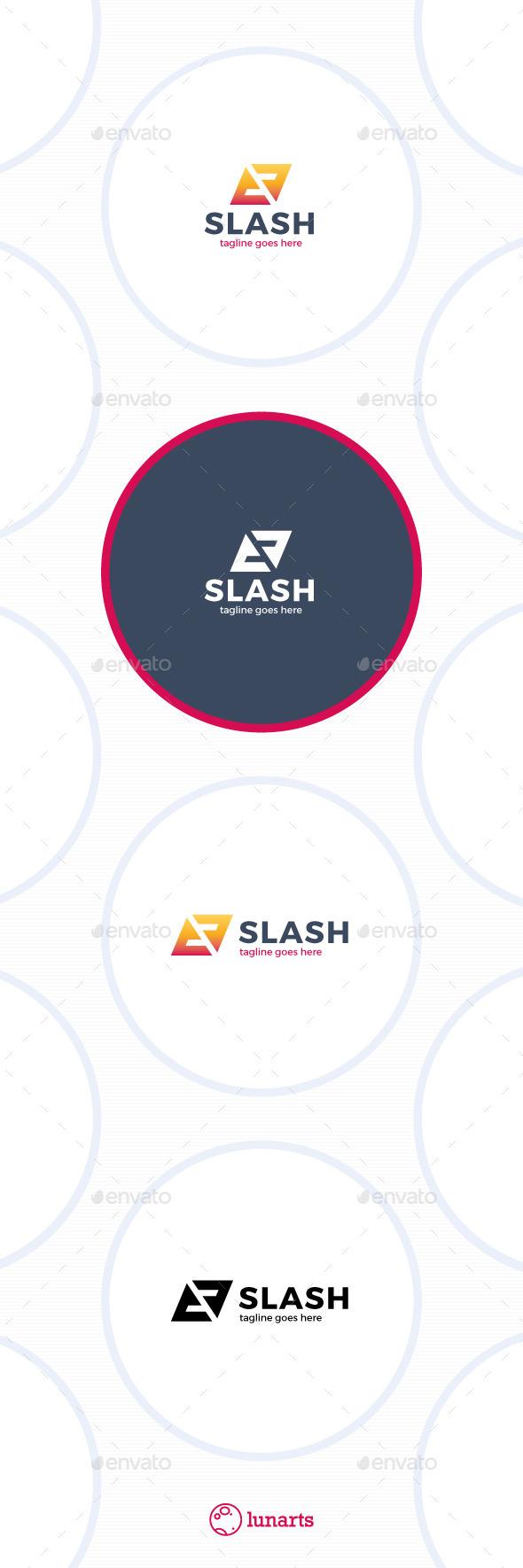 Slash - Triangle Letter S Logo - Letters Logo Templates