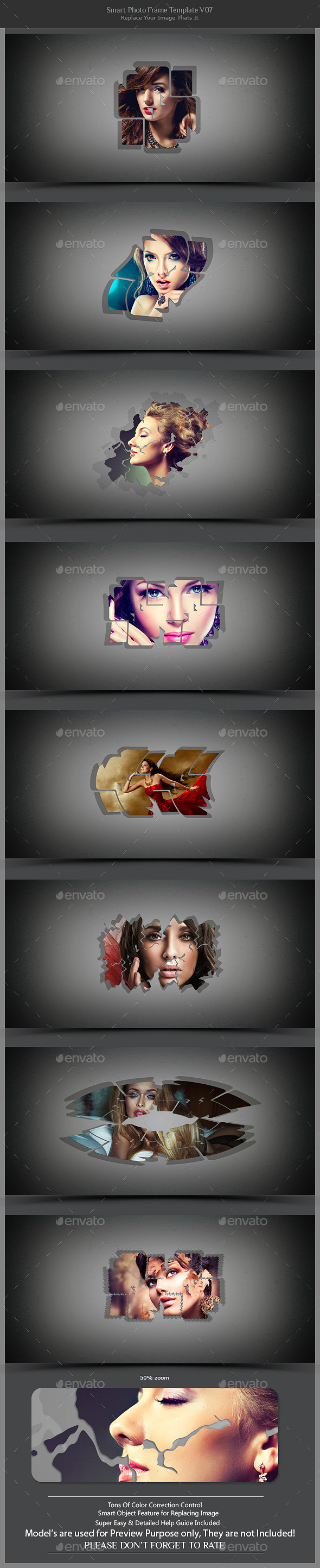 Smart Photo Frame Template V07  - Photo Templates Graphics