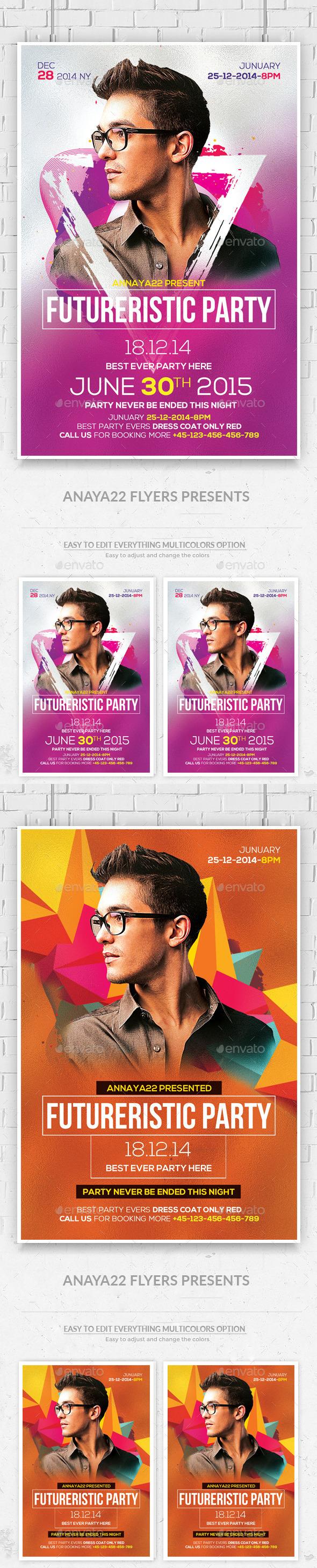 Electro Concert Dj Flyers Bundle - Clubs & Parties Events