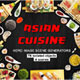 Asian Cuisine Hero Image Scene Generators - GraphicRiver Item for Sale