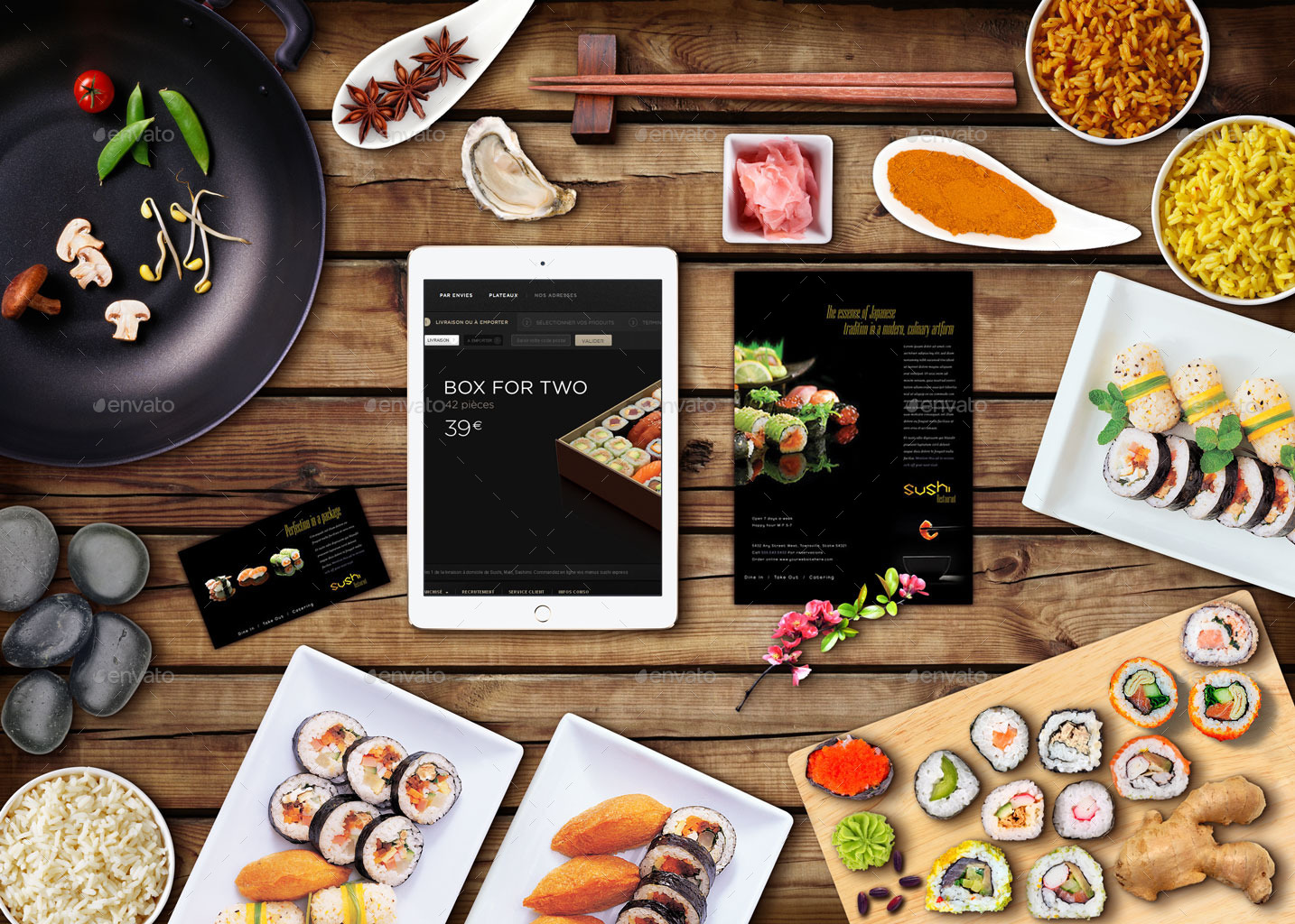 Asian cuisine hero image scene generators by oloreon