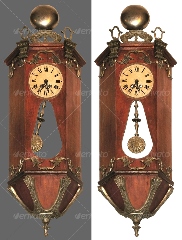 Antique pendulum clock - Home & Office Isolated Objects