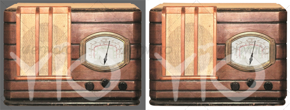 Antique radio - Technology Isolated Objects