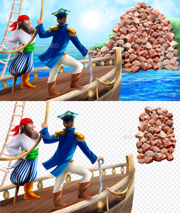 Pirates - Scenes Illustrations