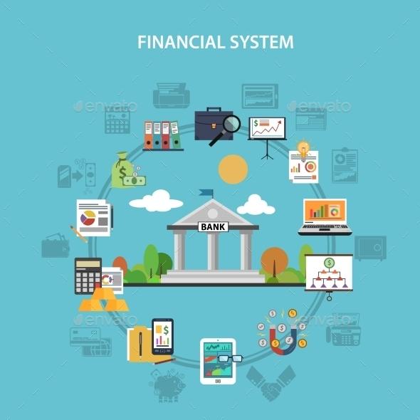 Finance Concept Flat - Business Conceptual