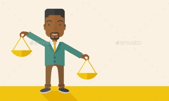 Man Holding a Weighing Scale - Concepts Business