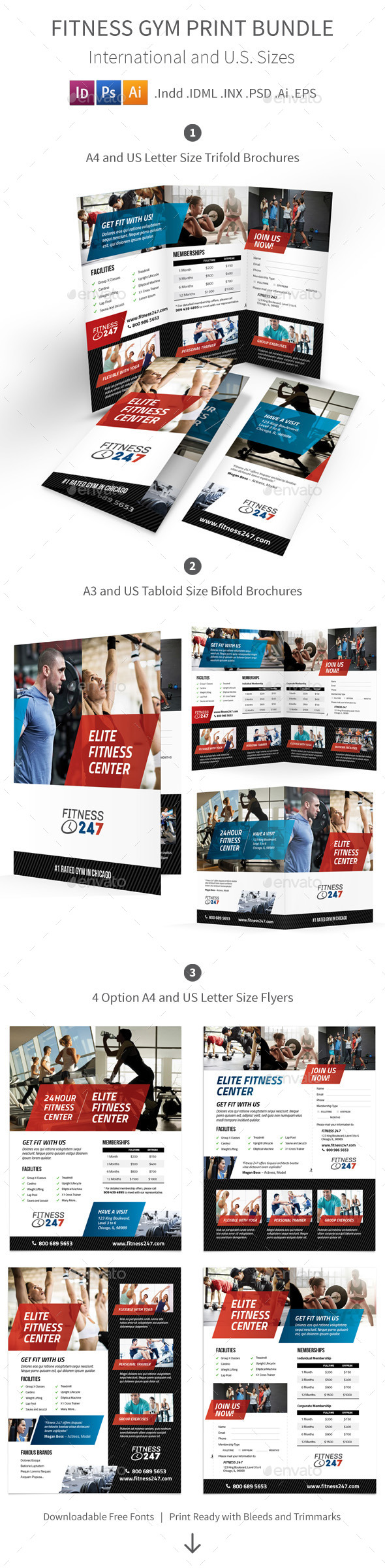 Fitness Gym Print Bundle - Informational Brochures