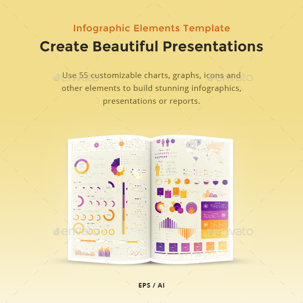 Infographic Elements Template - Vector Pack - Infographics