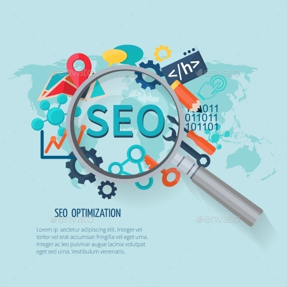 Seo Marketing Flat - Business Conceptual