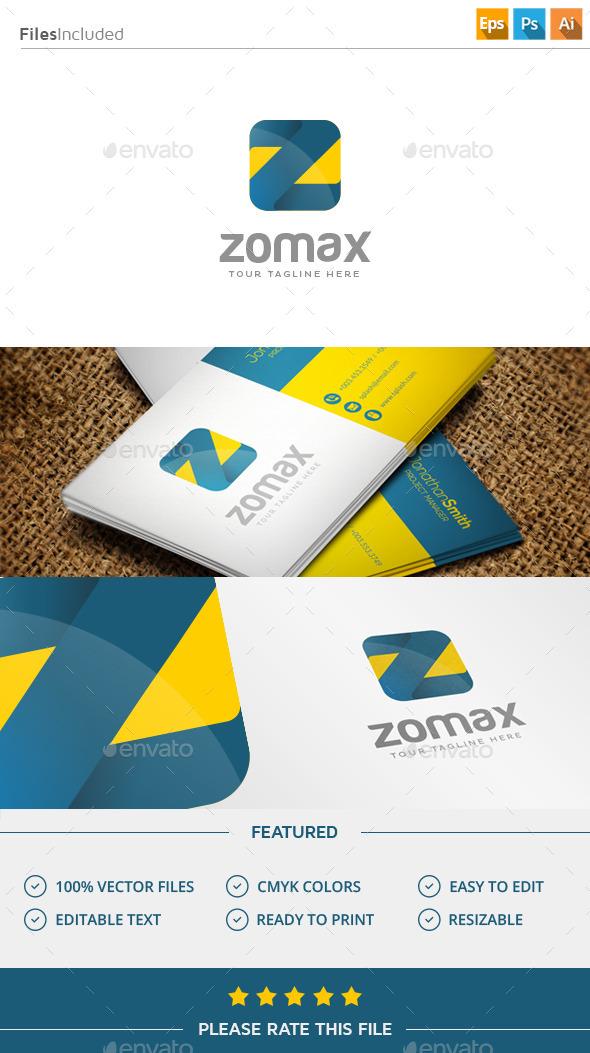 Zomax / Letter Z Logo - Letters Logo Templates