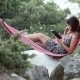 Girl In Hammock E-book Reading - VideoHive Item for Sale