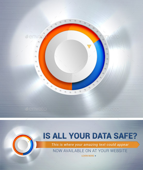 Data Security Banner - Banners & Ads Web Elements