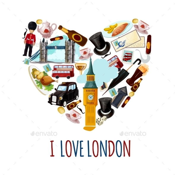 London Touristic Poster - Travel Conceptual