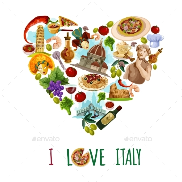 Italy Touristic Poster - Travel Conceptual