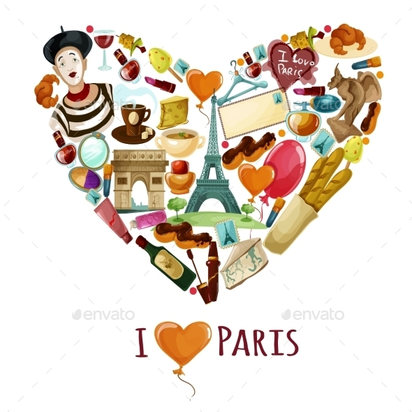 Paris Touristic Poster - Travel Conceptual