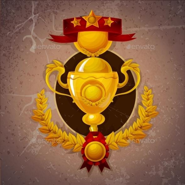 Golden Trophy Background - Miscellaneous Vectors