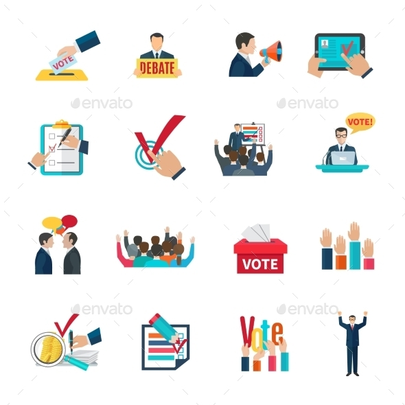 Elections Icons Set - Miscellaneous Vectors