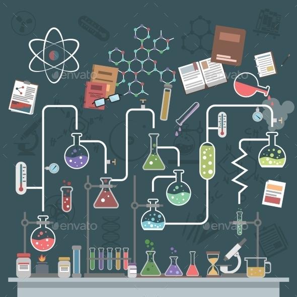 Science Concept Flat - Miscellaneous Vectors
