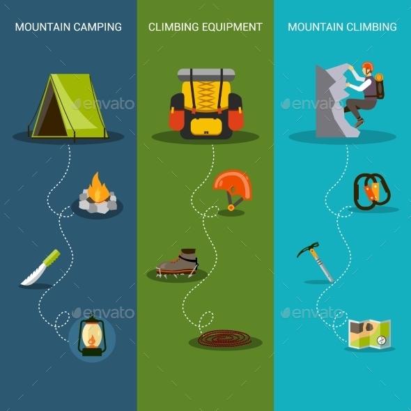 Climbing Banner Vertical - Sports/Activity Conceptual