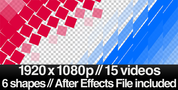 15 Videos of Elegant Transition Overlays + AE File