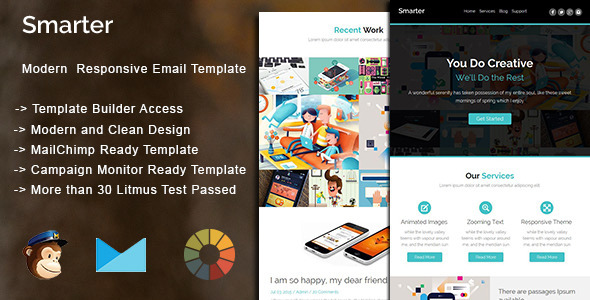 Smarter – Modern Responsive Email Template