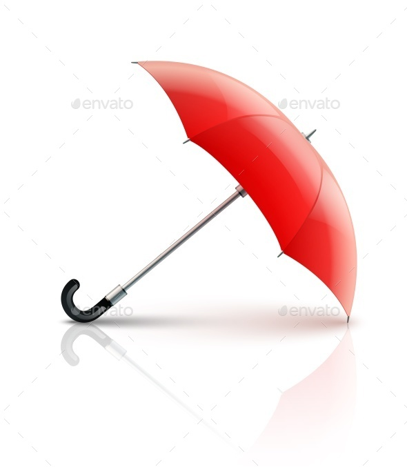 Red Umbrella - Man-made Objects Objects